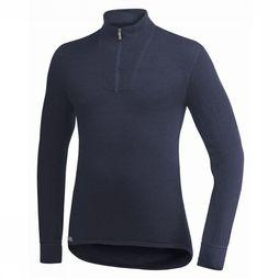 Woolpower Zip Turtleneck 400 Donkerblauw