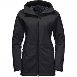 Jack Wolfskin Rock Valley Jas Dames Zwart