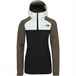 The North Face Stratos Jas Dames Zwart/Taupe