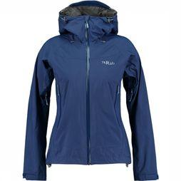 Rab Downpour Plus Jas Dames Donkerblauw