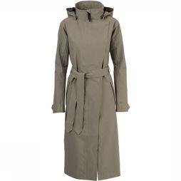 Agu Urban Outdoor Trenchcoat Long Dames Lichtgroen
