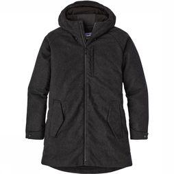 Patagonia Recycled Wol Parka Donkergrijs Mengeling