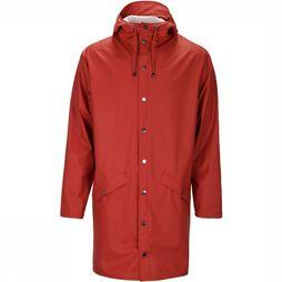 Rains Long Jas Unisex Donkerrood