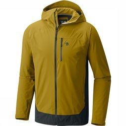 Mountain Hardwear Stretch Ozonic Jas Donkergeel