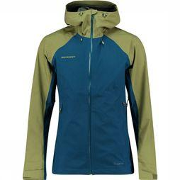 Mammut Convey Tour HS Hooded Jas Marineblauw/Middenkaki