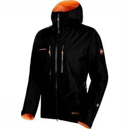 Mammut Nordwand Advanced HS Hooded Jas Zwart/Oranje