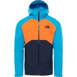 The North Face Stratos Jas Donkergrijs/Oranje