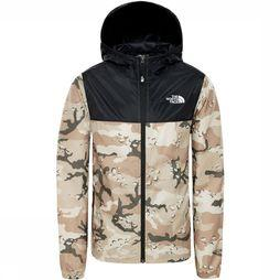 The North Face Reactor Wind Jas Junior Donkerkaki/Lichtkaki