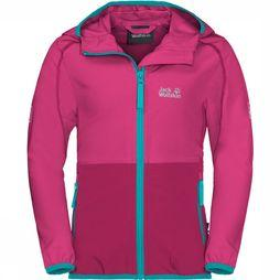 Jack Wolfskin Turbulence Girls Jas Junior Middenroze