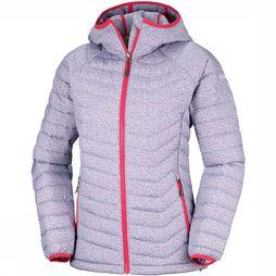Columbia Powder Lite Hooded Jas Dames Lichtgrijs