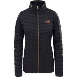 The North Face Thermoball Jas Dames Zwart/Koper