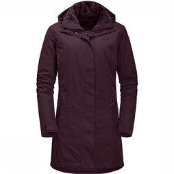 Jack Wolfskin Madison Avenue Jas Dames Donkerrood