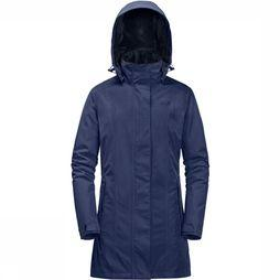Jack Wolfskin Madison Avenue Parka Dames Middenblauw