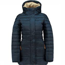 Moscow Nylon Dull Down Coat Jas Dames Petrol