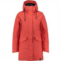 Tretorn Rain From Sea Padded Jas Dames Oranje/Rood