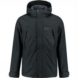 Jack Wolfskin West Harbour 3-in-1 Jas Zwart