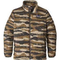 Patagonia Down Sweater Jas Junior Roest/Assortiment Camouflage
