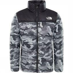 The North Face Nuptse Down Jas Junior Zwart/Assortiment Camouflage