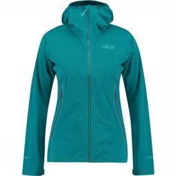 Rab Kinetic Plus Jas Dames Petrol/Turkoois