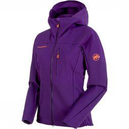 Mammut Eisfeld Light Softshell Hoody Dames Middenpaars