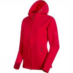 Mammut Macun SO Hooded Jas Dames Middenrood