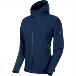Mammut Macun SO Hooded Jas Dames Indigoblauw