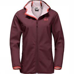 Jack Wolfskin Northern Point Softshell Dames Donkerrood