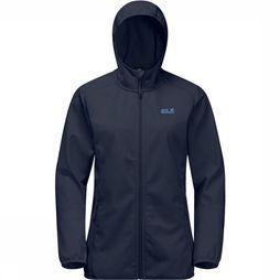 Jack Wolfskin Northern Point Softshell Dames Marineblauw