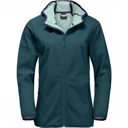 Jack Wolfskin Northern Point Softshell Dames Groen