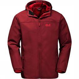 Jack Wolfskin Northern Point Softshell Donkerrood