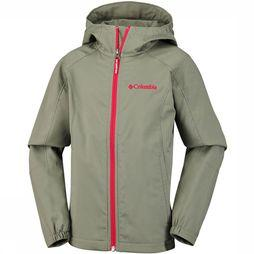Columbia Splashflash II Hooded Softshell Junior Donkergroen/Groen