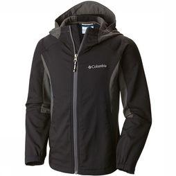 Columbia Splashflash II Hooded Softshell Junior Zwart/Donkergrijs