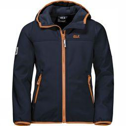 Jack Wolfskin Fourwinds Softshell Jas Junior Donkerblauw