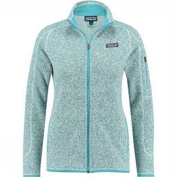 Patagonia Better Sweater Fleece Dames Lichtblauw/Marineblauw