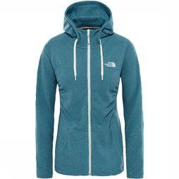 The North Face Mezzaluna Full Zip Hoodie Dames Petrol