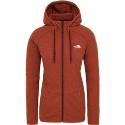 The North Face Mezzaluna Full Zip Hoodie Dames Rood