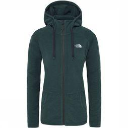 The North Face Mezzaluna Full Zip Hoodie Dames Middengroen/Groen