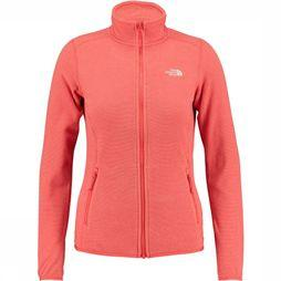 The North Face 100 Glacier Full Zip Vest Dames Middenrood