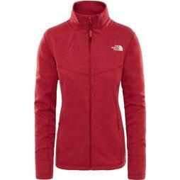 The North Face Inlux Wool FZ Jas Dames Middenrood