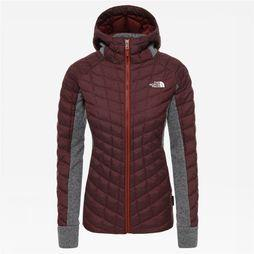 The North Face Thermoball Gordon Lyons Hoodie Dames Donkerrood/Lichtgrijs Mengeling