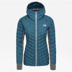 The North Face Thermoball Gordon Lyons Hoodie Dames Petrol/Middengrijs
