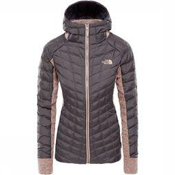 The North Face Thermoball Gordon Lyons Hoodie Dames Middengrijs/Lichtroze