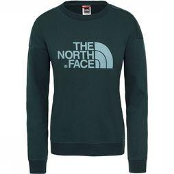 The North Face Drew Peak Crew Trui Dames Middengroen