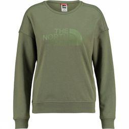 The North Face Drew Peak Crew Trui Dames Donkerkaki