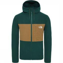 The North Face Blocked FZ Hoodie Jas Donkergroen/Kameelbruin