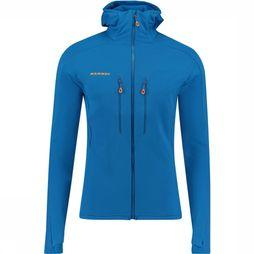 Mammut Eiswand Advanced MI Hooded Vest Middenblauw