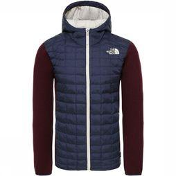 The North Face Thermoball Gordon Lyons Hoodie Donkerblauw/Bordeaux
