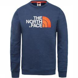 The North Face Drew Peak Trui Marineblauw/Rood