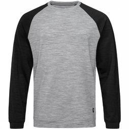 Supernatural Essential Raglan Crew Sweater Middengrijs/Zwart
