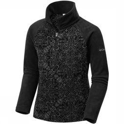 Glacial II Fleece Print Half Zip Junior